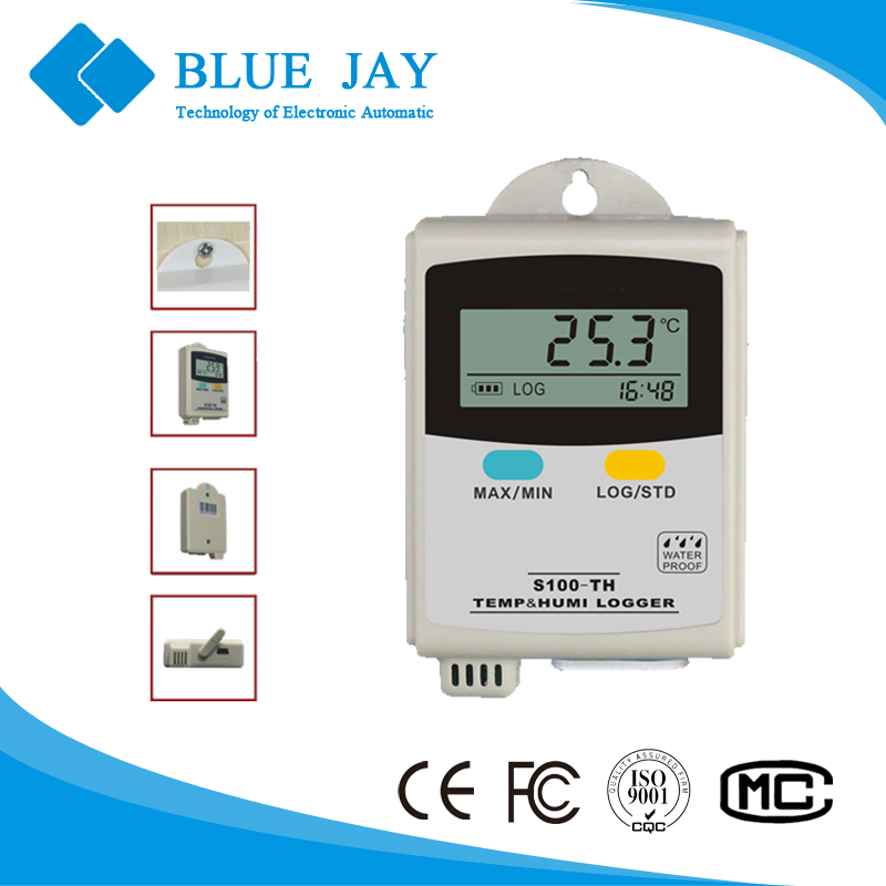 S100-TH Industrial Truck Temperature&Humidity Data Logger, Use in Cold-chain Transportation, HVAC Refrigerator