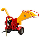 CE approved forestry machinery 20hp gasoline engine pto wood chipper
