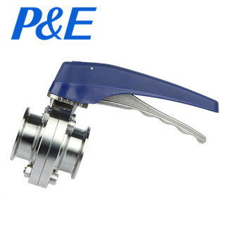 stainless steel plastic handle tri clamp Butterfly Valve