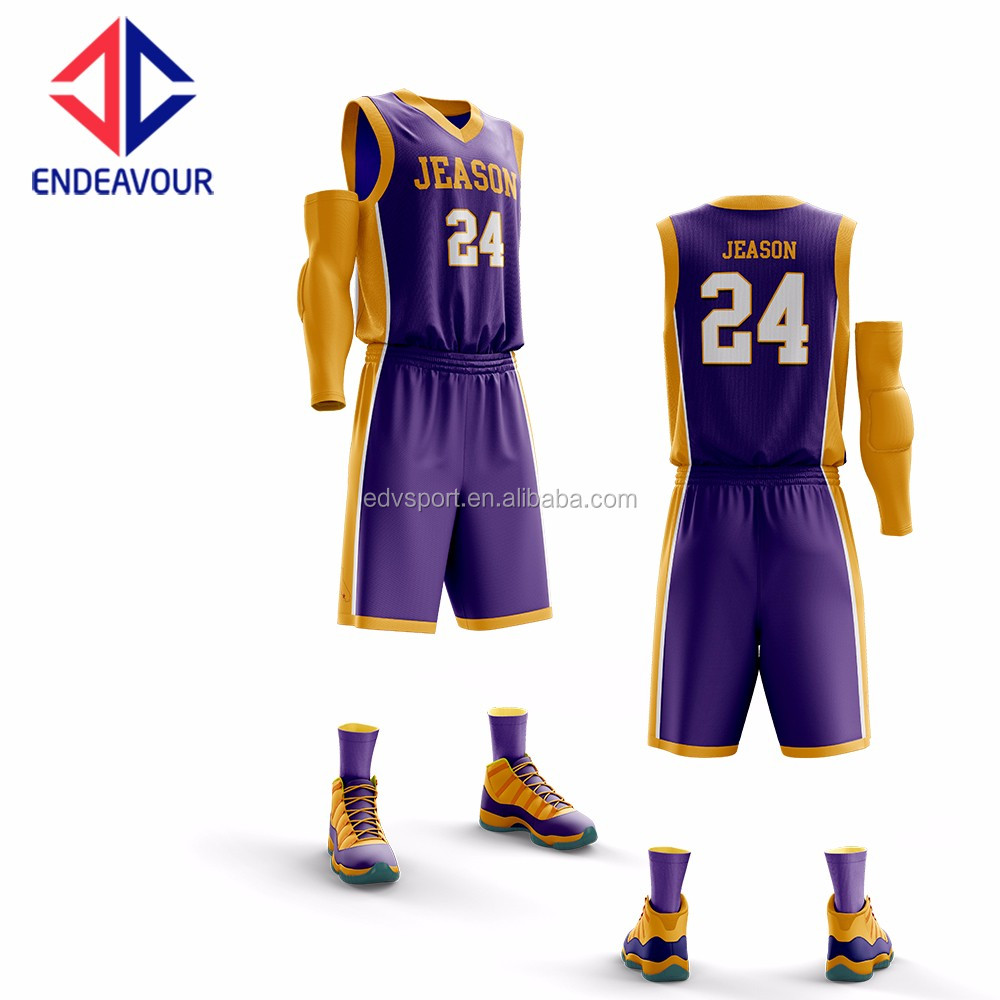12a6bc538 Wholesale Popular Design Basketball Jersey Color Purple - Buy ...