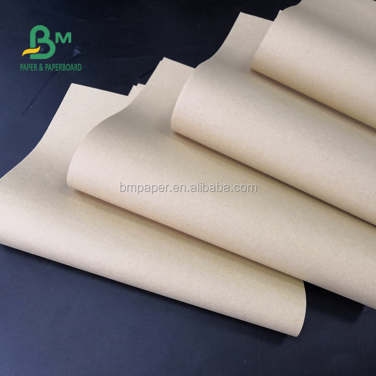 FSC Standard Virgin Pulp 80gsm Brown Craft Paper Good tension For Snack Bags