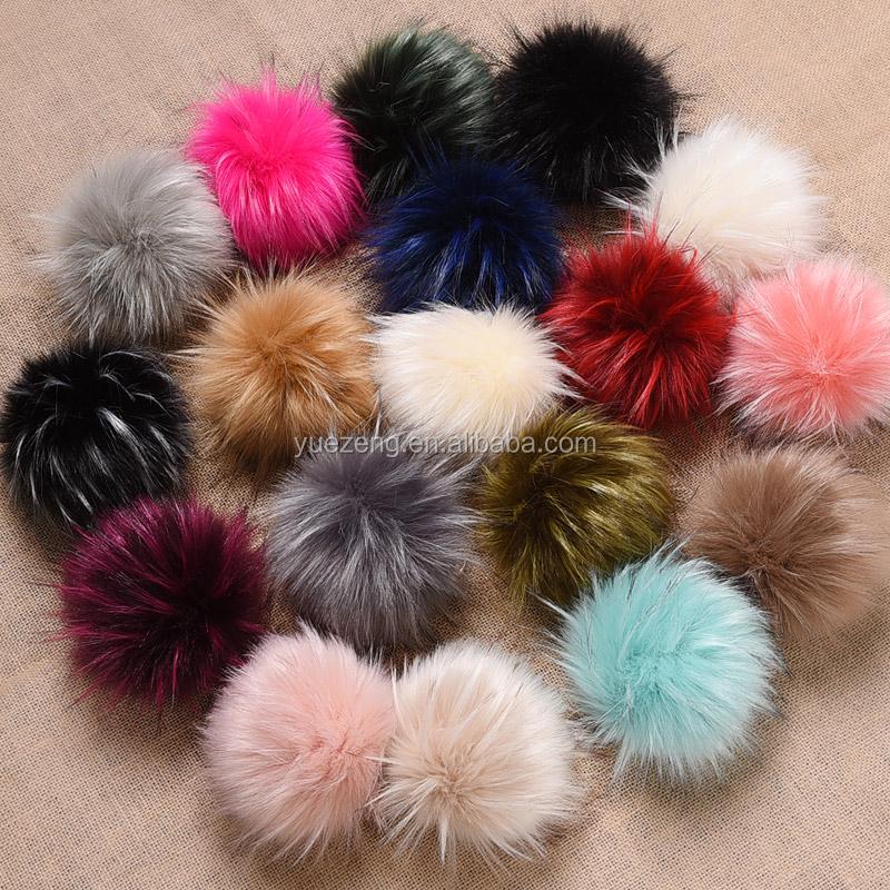 New luxury faux raccoon fur pom poms