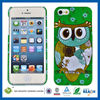 C&T Gold foil owl phone case for iphone 5 cell phone