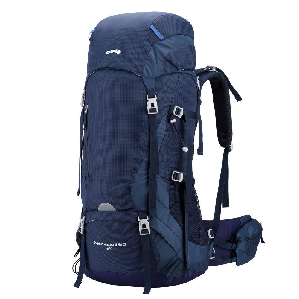 a93c0fab57 Get Quotations · Kimlee Camping Backpack For Hiking Climbing Skiing With  Rain Cover 60L Cycling Traveling Outdoor Hydration Hunting