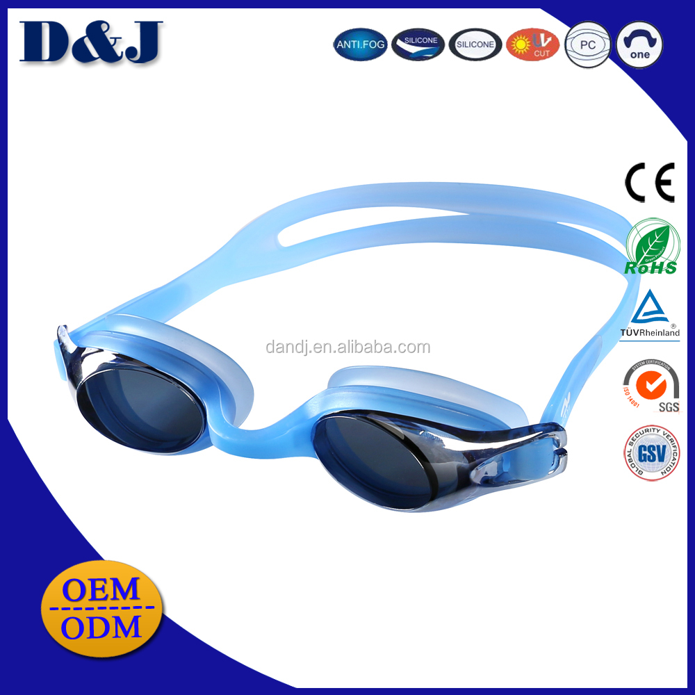 Hot Sale One piece Silicone Waterproof Adult Swimming Goggle with Mirror Coated Anti fog