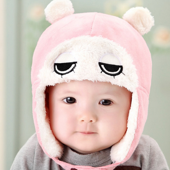 tsw6009 korean baby boy baby girl big eyes cute baby winter hats