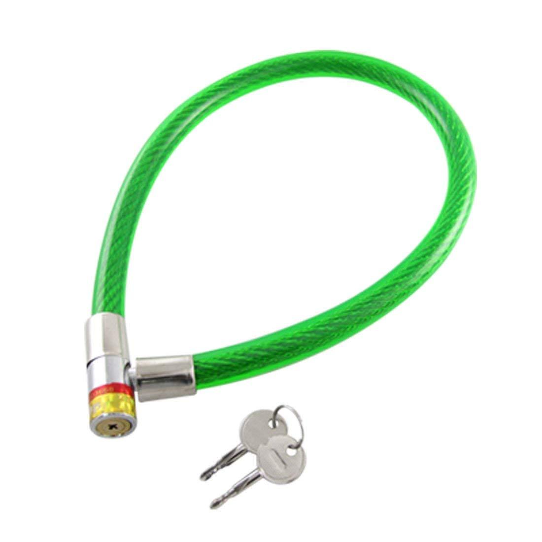 Aexit 2 Keys Bike Locks Durable Metal Coil Flexible Cable Bicycle U-Locks Bike Lock