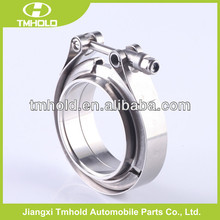 "3"" V-Band clamp flange Kit (Stainless Steel 304 Clamp+SUS304 Flange) For turbo exhaust downpipe hose clamps"