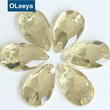 33222a751d Factory Price 7*12mm Jonquil Color Sewing Stone 10.5*18mm Teardrop Sew On  Flat Back Glass Stones Design For Bridal Wedding Dress - Buy Sew On Flat ...