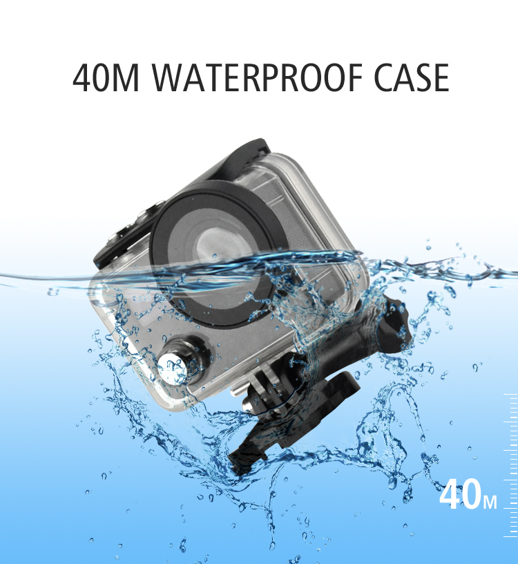 real 4k 50fps action camera with 40m waterproof