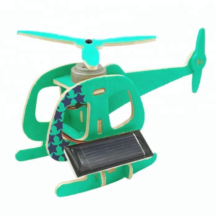 ROBUD Solar Powered Helicopter Stem Educational Toys Assembled Model for Children