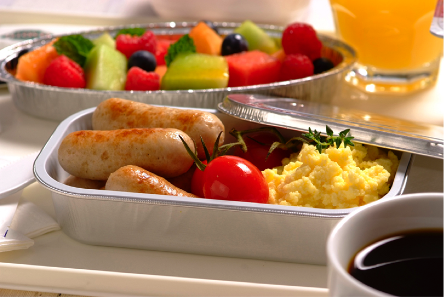 disposable airline food trays