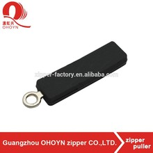 factory custom fashion pvc rubber zipper puller