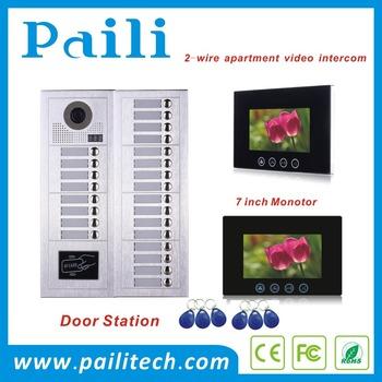 Multi Apartment Video Door Phone Video Intercom System For 24