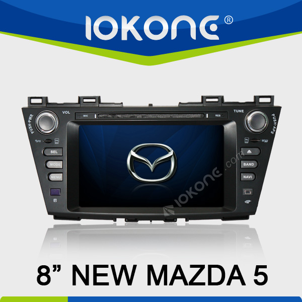 8 inch touch screen double din car dvd mazda 5 with gps navigation