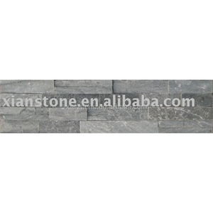 artificial black natural stone veneer slate wall panel cladding flooring slate