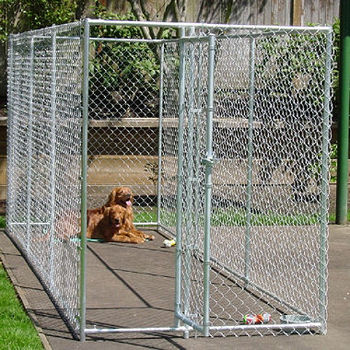 Outdoor Temporary Dog Fence Pvc Chain Link Dog Kennel