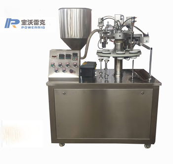 Cosmetic cream tube filling sealing machine