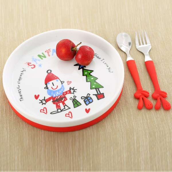 2017 best selling round bulk ceramic plates for kid