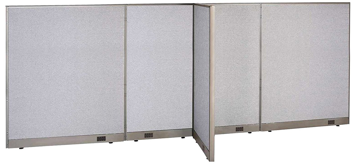 GOF T-Shaped Freestanding Partition 30d x 156w x 48h / Office, Room Divider (30d x 156w x 60h)