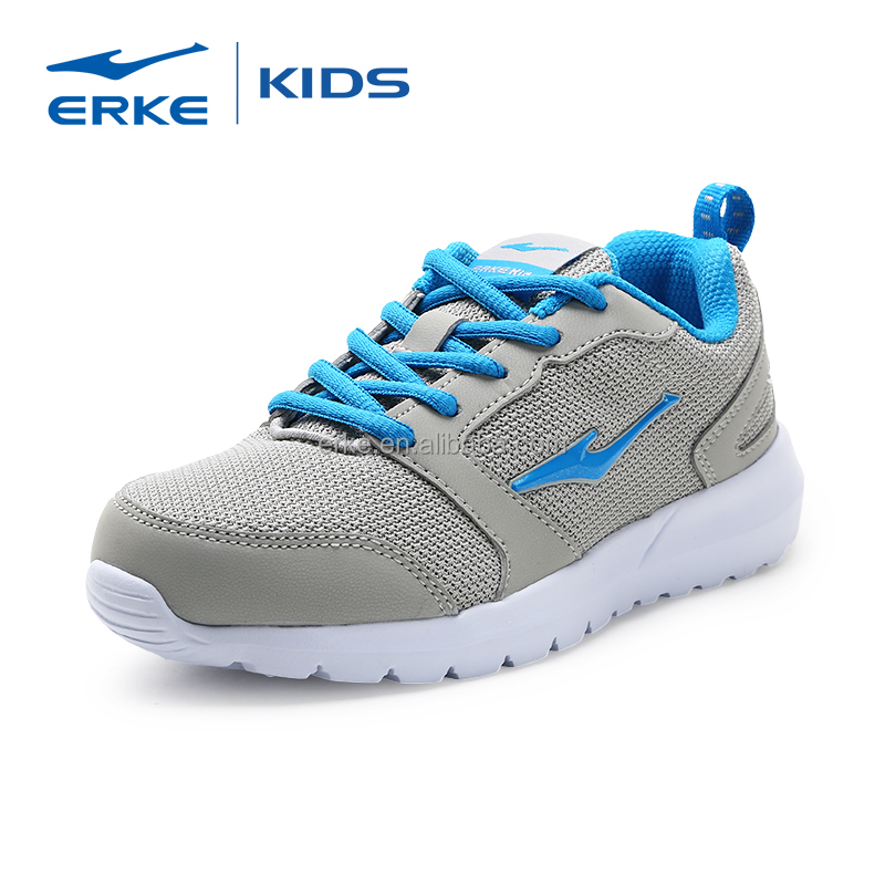 2017 simple mesh upper comfortable ERKE brand kids sports shoes wholesale