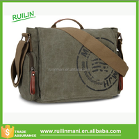 High quality blank military canvas wholesale laptop mens messenger bag