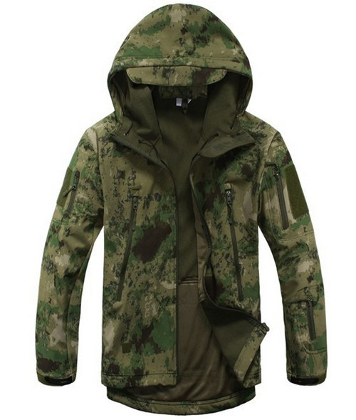 Tactische Militaire Sneeuw Outdoor Pak Militaire winter Heren Waterdicht Softshell camouflage outdoor sport Hooded Warme Jassen