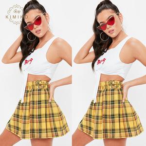 83492a36e4e Yellow Plaid Skirts Wholesale