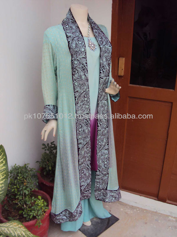 coat style pakistani dress