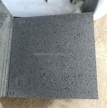Hainan Black Lava Stone Volcanic Rock Lave Basalt Rough Rubbing Tile
