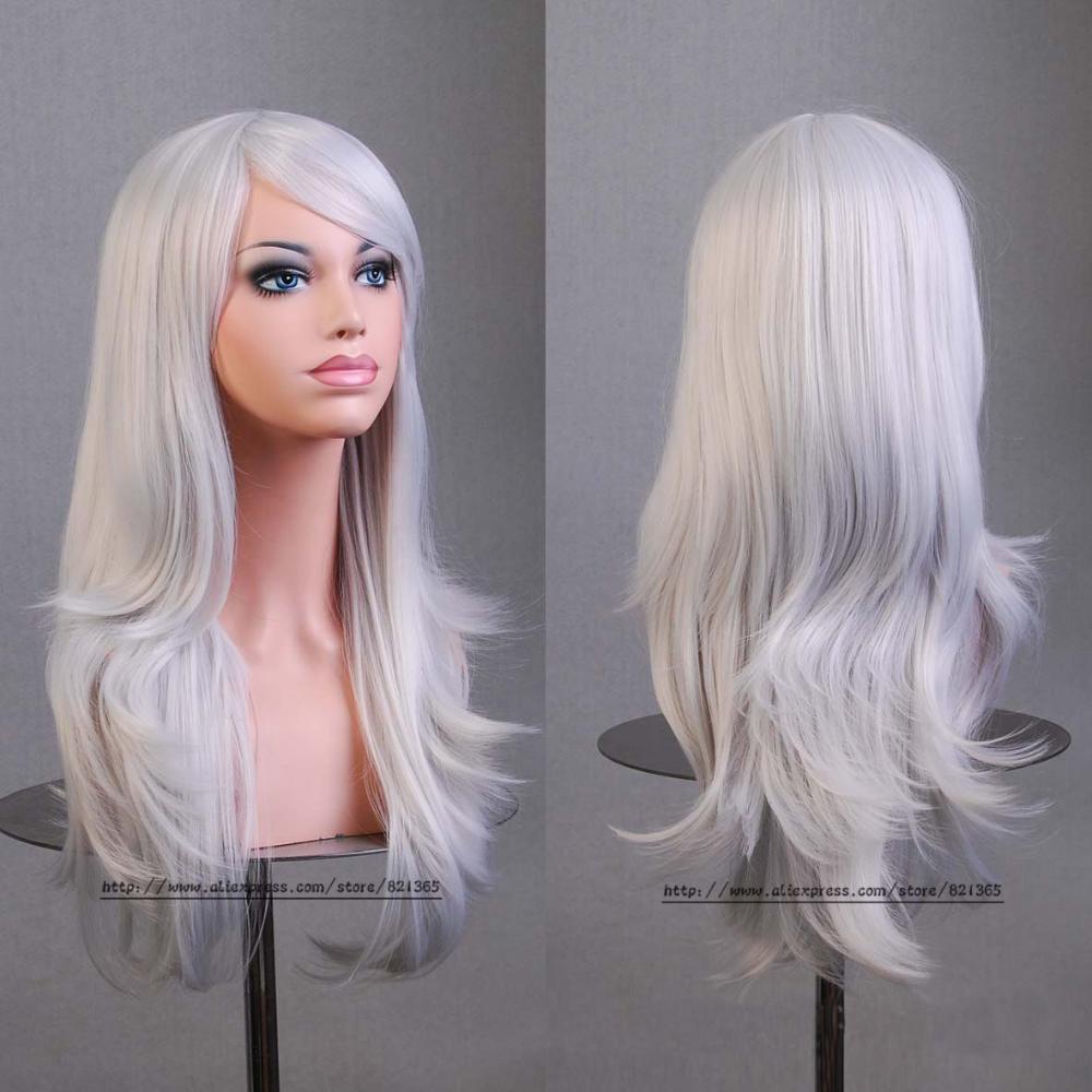 Горячая Hatsune мику аниме парик синтетический волос длинные вьющиеся волны peluca косплей парик серый Nicki minaj парик Perruque плутон femininas