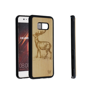 Wooden Phone Case for Samsung Galaxy S8 TPU Frame Cell Phone Accessories