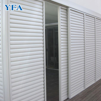 Aluminium Plantation Fixed Sun Shutters Louvre Blade Window Shutters