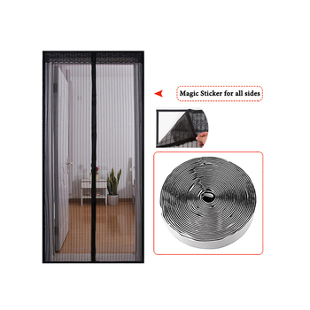 Free Shipping for Samples Amazon Polyester Black Decorative Magnetic Mosquito Net Fly Screen Door Window Curtain