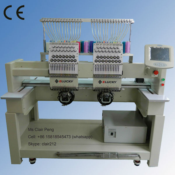 bddb3024011 2 head computerized embroidery machine price for hat t-shirt embroidery