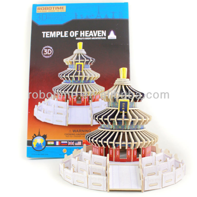 3D Puzzle Wooden Educational Beijing temple of heaven puzzle