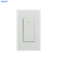 Home automation light wall switch with physical button