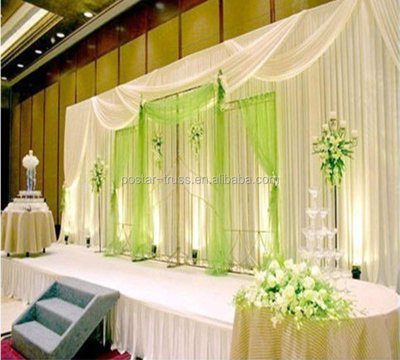 Portable Pipe And Drape Wedding Backdrop With Optional