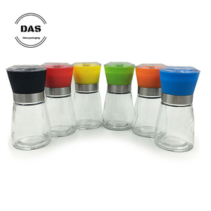 Grinder 180ml glass spice jar with shaker lid