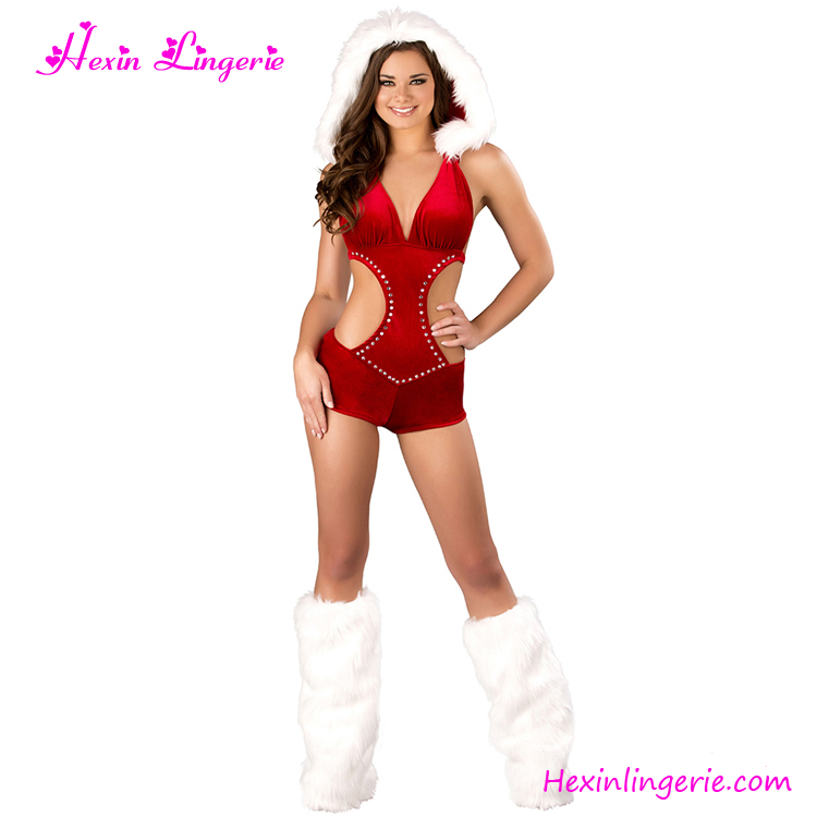 Ladies Sexy Santa Girl Bunny Outfit Fancy Dress Christmas Costume