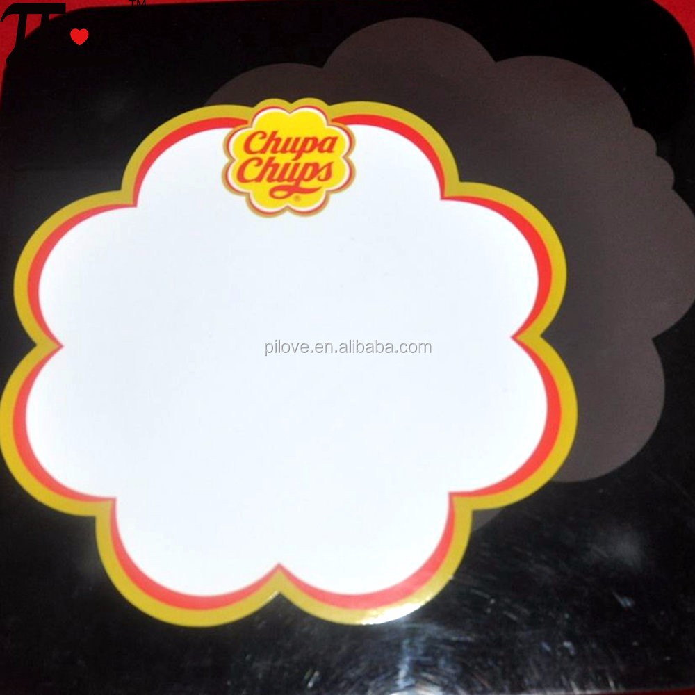 Most popular advertising gifts flexible magnetic board set with flower shape