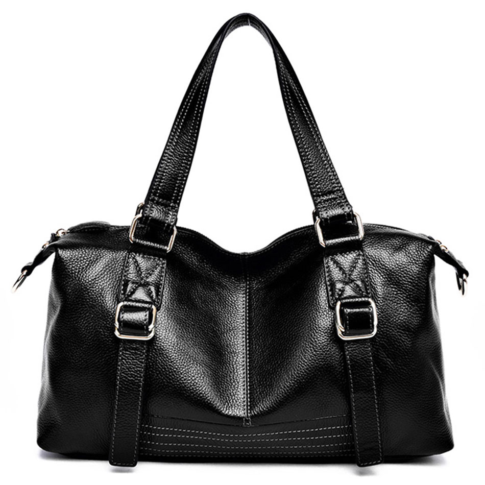 cb14074977 Get Quotations · High Quality Women s Leather Handbags Genuine Leather  Crossbody Bags Black Vintage Shoulder Famous Brand Hand Bag