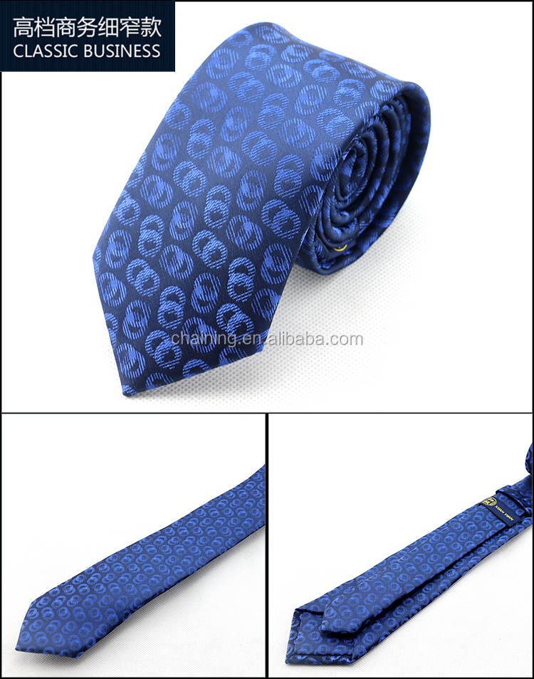 2016 YIWU factory high quality men cheap blue business fashion polyester <strong>ties</strong>