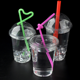 disposable iced coffee cup transparent clear PET plastic drinkware 16oz cups with 98mm lids