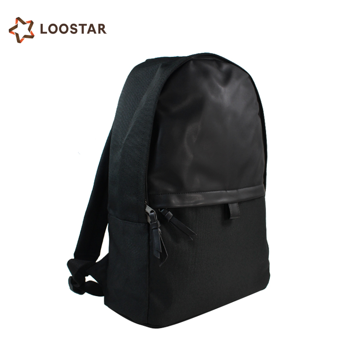 High Quality New Arrival Trend Casual Men Backpack All Black Backbag for Sale