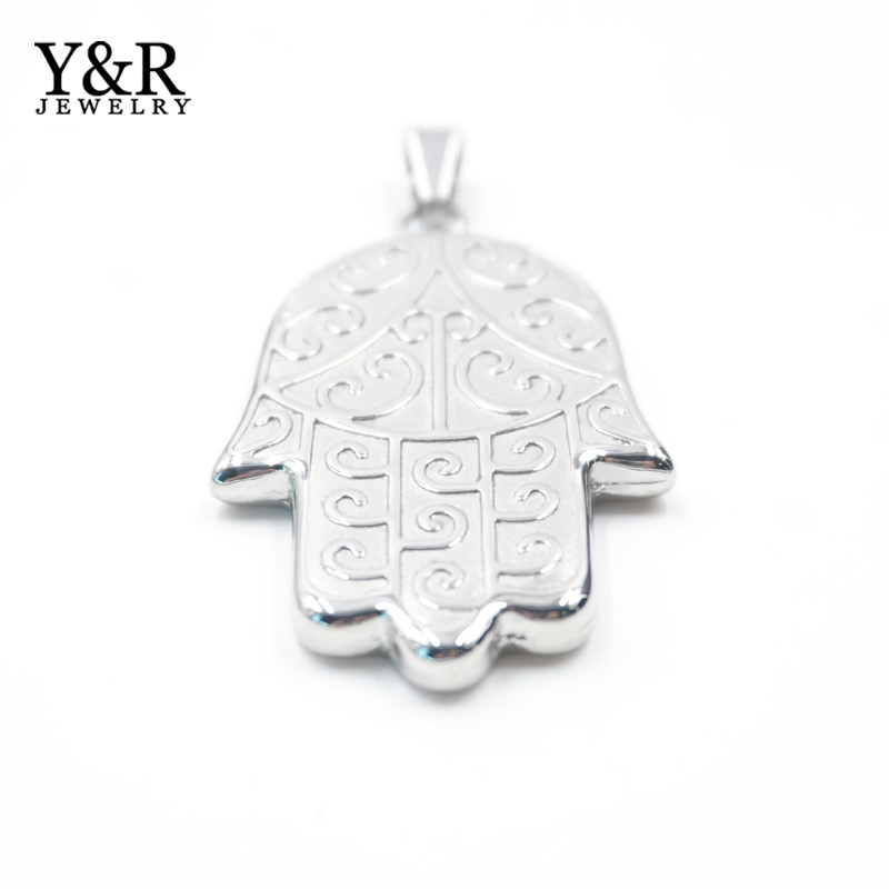 Wholesale Stainless Steel Antique Hamsa Palm Of Hand Casting pendant