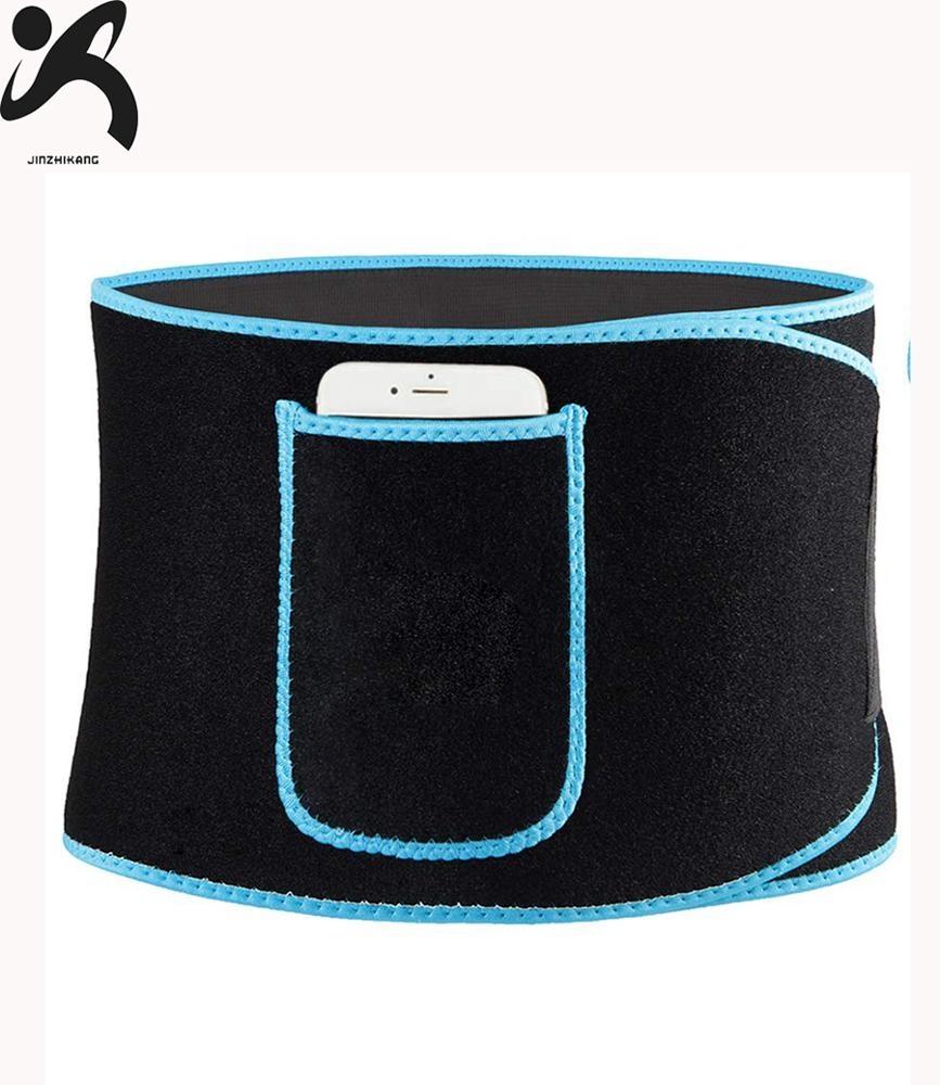 Hot 2019 selling amazon neoprene custom waist trainer belt phone pocket sweat slimming belt for weight loss фото