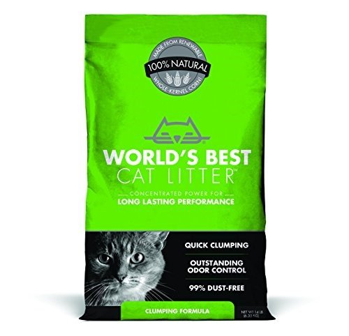 World's Best Cat Litter WB00104 Natural Cat Litter Clumping Formula, 14 lb, Bag