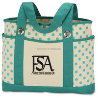 Fully Lined Canvas Tote with Interial Zipper Pocket and Cell Phone Pouch