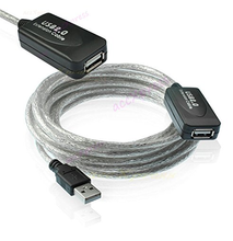 15Ft USB 2.0 Extension AA Booster Kabel Voor Printer Webcam Toetsenbord <span class=keywords><strong>Muis</strong></span>